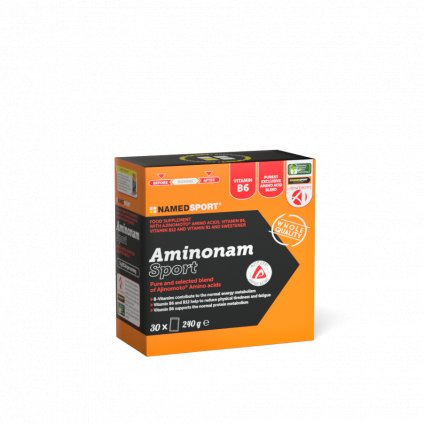 NAMEDSPORT AMINONAM SPORT, obohacená směs esenciálních aminokyselin, 240 g, 30 sáčků