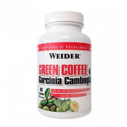 Weider Green Coffee & Garcinia Cambogia, SPALOVAČ 90 kps, EXSPIRACE 02/2021