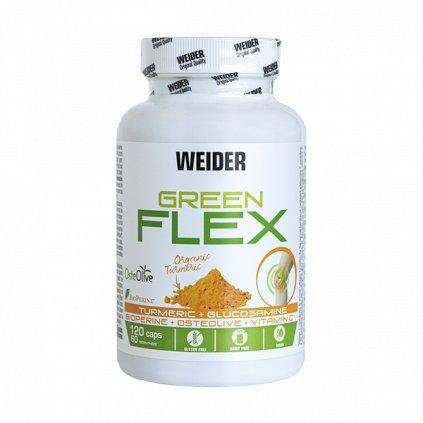 Weider Green Flex, kurkuma + glukosamin, 120 kapslí