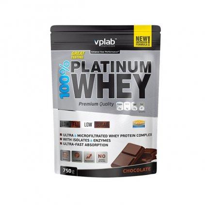 VPLab 100% Platinum Whey, 750 g, Syrovátkový koncentrát + izolát, Vanilla