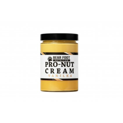 Bear Foot Pro-Nut Cream, arašídové máslo s proteinem, vanilka, 550g