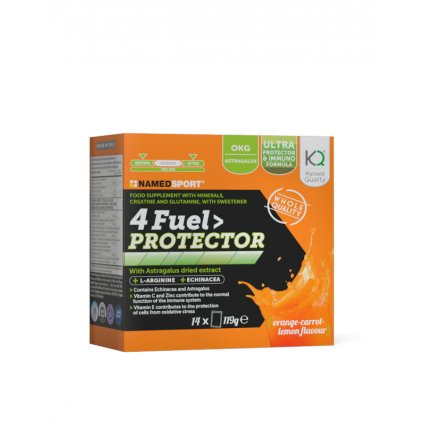 NAMEDSPORT 4 Fuel Protector 14x8,5g, tréninkové pití s aminokyselinami a vitaminy, pomeranč - citron
