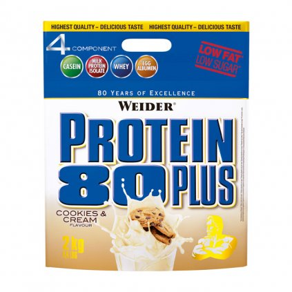 Weider, Protein 80 Plus, 2000 g, Lesní plody