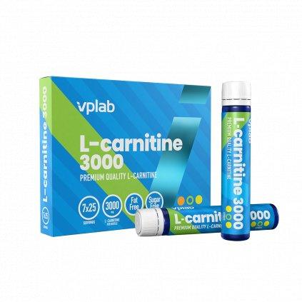 VPLab L-Carnitine 3000, 7x25 ml ampule, tekutá forma l-karnitinu v ampulích, Citrus