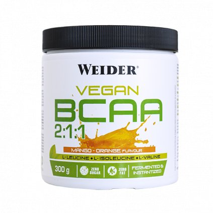 Weider Vegan BCAA, 300 g, fermentovaná forma BCAA, Mango-Orange