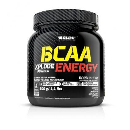Olimp BCAA Xplode ENERGY, 500 g, Sypké BCAA + Kofein + Beta-alanin, Xplosive Cola