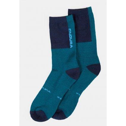 Ponožky Endura BaaBaa Merino - Modrá, S/M