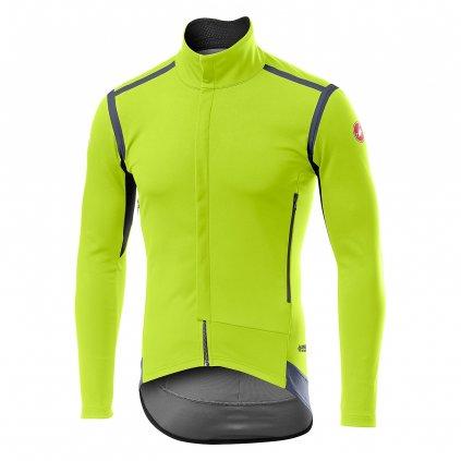 Bunda Castelli Perfetto RoS Long Sleeve Jacket, Žlutá Barva: Svítivá žlutá, Velikost: M