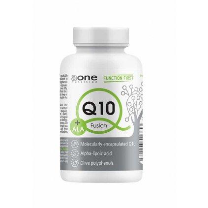 AONE Q10+ALA, 60 kapslí, koenzym Q10 s kyselinou alfa-lipovou a polyfenoly z oliv