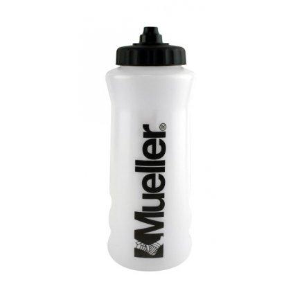 Mueller ATHL Sport Bottles, sportovní láhev, bílá s černým víčkem