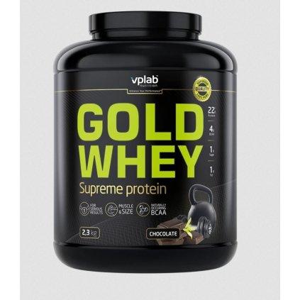 VPLab Gold Whey Supreme Protein 2,3kg, koncentrát syrovátkové bílkoviny s vysokým podílem BCAA, chocolate
