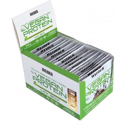 Weider Vegan Protein 30g sáček, bílkovinný izolát z extraktu hrachu a rýže, Brownie Chocolate