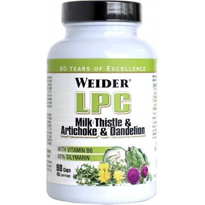 Weider LPC Milk Thistle & Artichoke & Dandelion 90 kapslí, extrakty ze semen ostropestřece, pampelišky a artyčoku