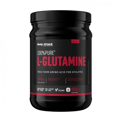 Body Attack 100% Pure L-Glutamine 400 g, l-glutamin v sypké formě