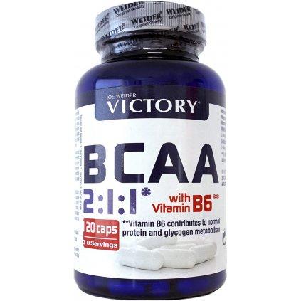 Weider BCAA + Vitamin B6, 2:1:1, 120 kapslí, VĚTVENÉ AMINOKYSELINY L-LEUCIN, L-ISOLEUCIN A L-VALIN