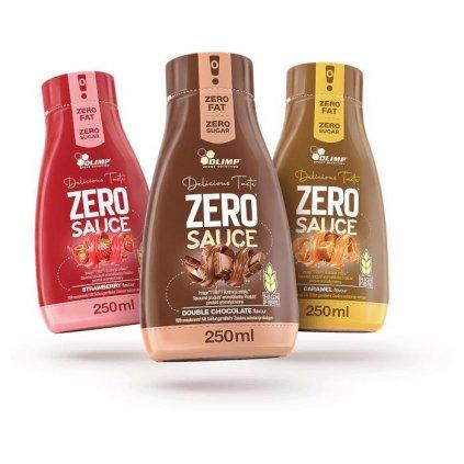 Olimp Zero Sauce 250 ml, nízkoenergetická poleva bez tuku a cukru, Caramel