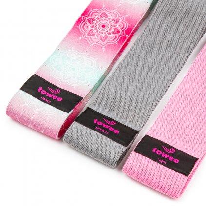 Towee Booty Band textilní odporová guma Mandala, sada 3 ks