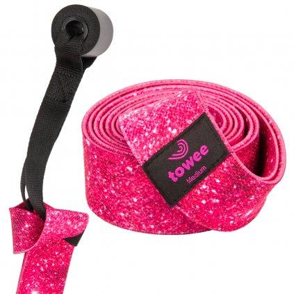 Towee textilní odporová guma extra long Glitter - střední odpor