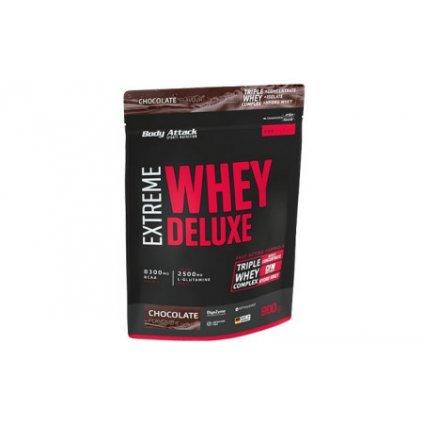 Body Attack Extreme Whey Deluxe 900 g, syrovátkový koncentrát, izolát, hydrolyzát, Čokoláda