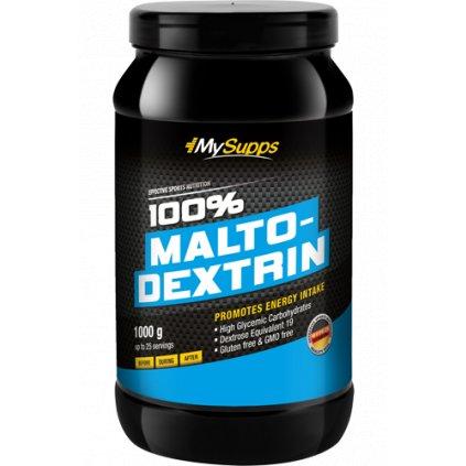 My Supps 100% Maltodextrin 1000g, vysoce glikemický sacharid z kukuřičného škrobu