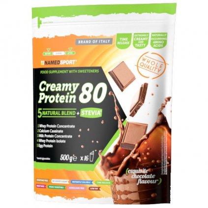 NAMEDSPORT Creamy Protein 80% 500 g, vícesložkový protein slazený stevií, Chocolate