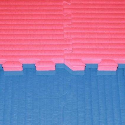 Tatami puzzle, 4 cm, červeno/modrá
