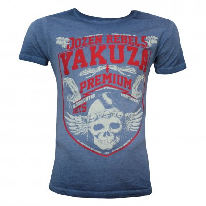 Pánské triko Yakuza Premium T-Shirt, tričko VINTAGE 201, modré, L