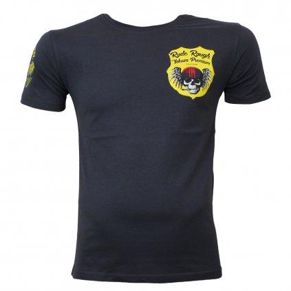 Pánské triko Yakuza Premium T-Shirt, lebka s helmou tričko YPS 2617, tmavě šedá, 2XL