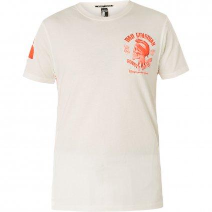 Pánské triko Yakuza Premium T-Shirt, Indian Skull tričko YPS 2704, bílá, XL