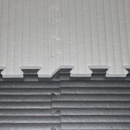 Tatami puzzle, 4 cm, černo/šedá