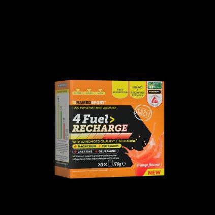 NAMEDSPORT 4 Fuel Recharge 14x119g, tréninkové pití s minerály, kreatinem a glutaminem, Pomeranč