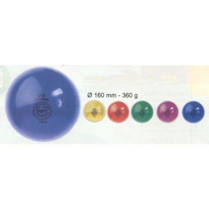 Gymnastický míč G.R.S. z PVC - průměr 160 mm - hmotnost 360 g