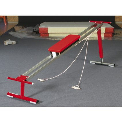 Gymnova Volně stojící lavička upravena na použití s žebřinami