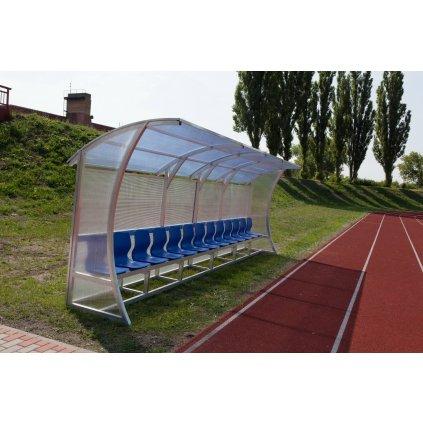 Katalog 2016 Střídačka na fotbal se sedačkami 6,5m Al 13 sedadel