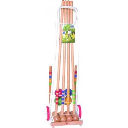 Kroket - 4hráči vozík - dřevěné držadlo
