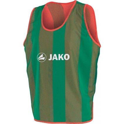 Rozlišovací dres oboustranný senior -barva oranžová/zelená