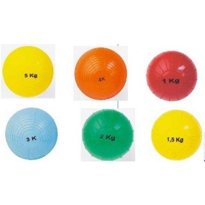 Rýhovaný míč s dvojitým obalem - hmotnost 1,5 kg