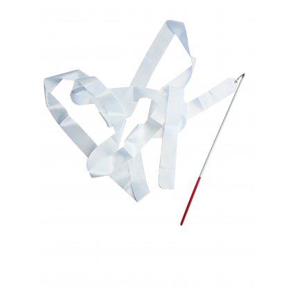 Stuha gymnastická - délka 4m, bílá