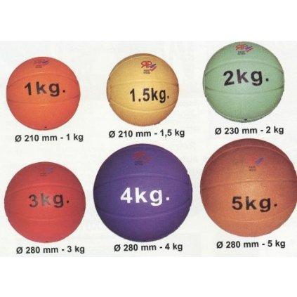 Tlakovatelný medicinbal - průměr 280 mm - hmotnost 4 kg