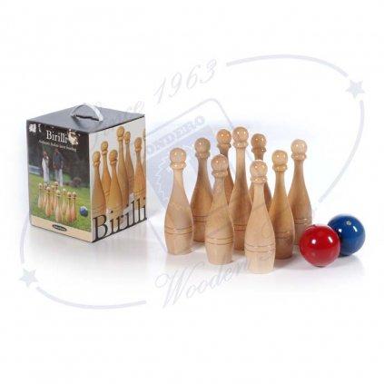 Zahradní bowling, Lucio Londero Deluxe, bukové dřevo, box