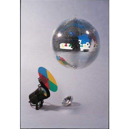 Zrcadlová koule pro světelné efekty - průměr 40 cm