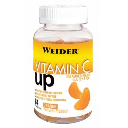 Weider Vitamin C Up 84 Gummies, želatinové bonbóny obsahující vitamín C, Pomeranč