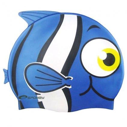 Plavecká čepice dětská RYBKA - barva modrá