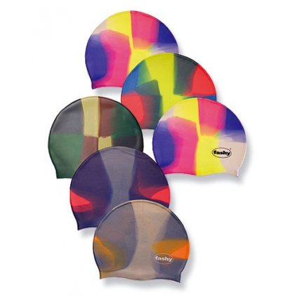 Silikonová koupací čepice barevná