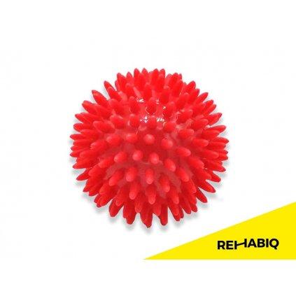 Rehabiq Masážní míček ježek, 8 cm, červený