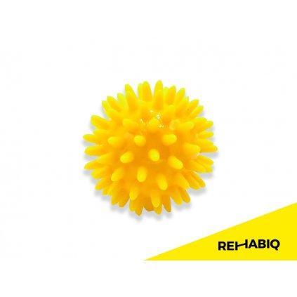 Rehabiq Masážní míček ježek, 6 cm, žlutý