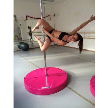 Jipast Pole dance žíněnka kulatá - rozměry 150cm, výška 10cm, sendwichové jádro