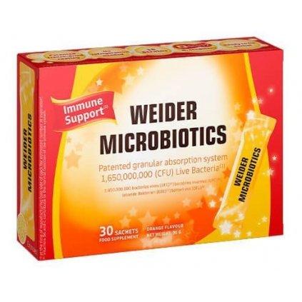 Weider Microbiotics Immune Support 30 sáčku, 15 mikrobiotických kmenů a vitamíny řady B a vitamín C, Pomeranč