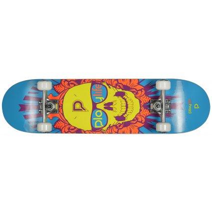 "Skateboard Playlife Skullhead 31x8"""