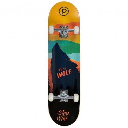 """Skateboard Playlife Fierce Wolf 31x8"""""""